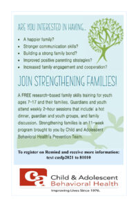 Strengthening Families - No. 1 1.29 -2